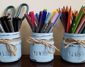 blue brush tins