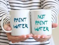 not paint water mug