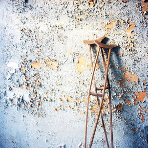 Image result for abandoned crutches