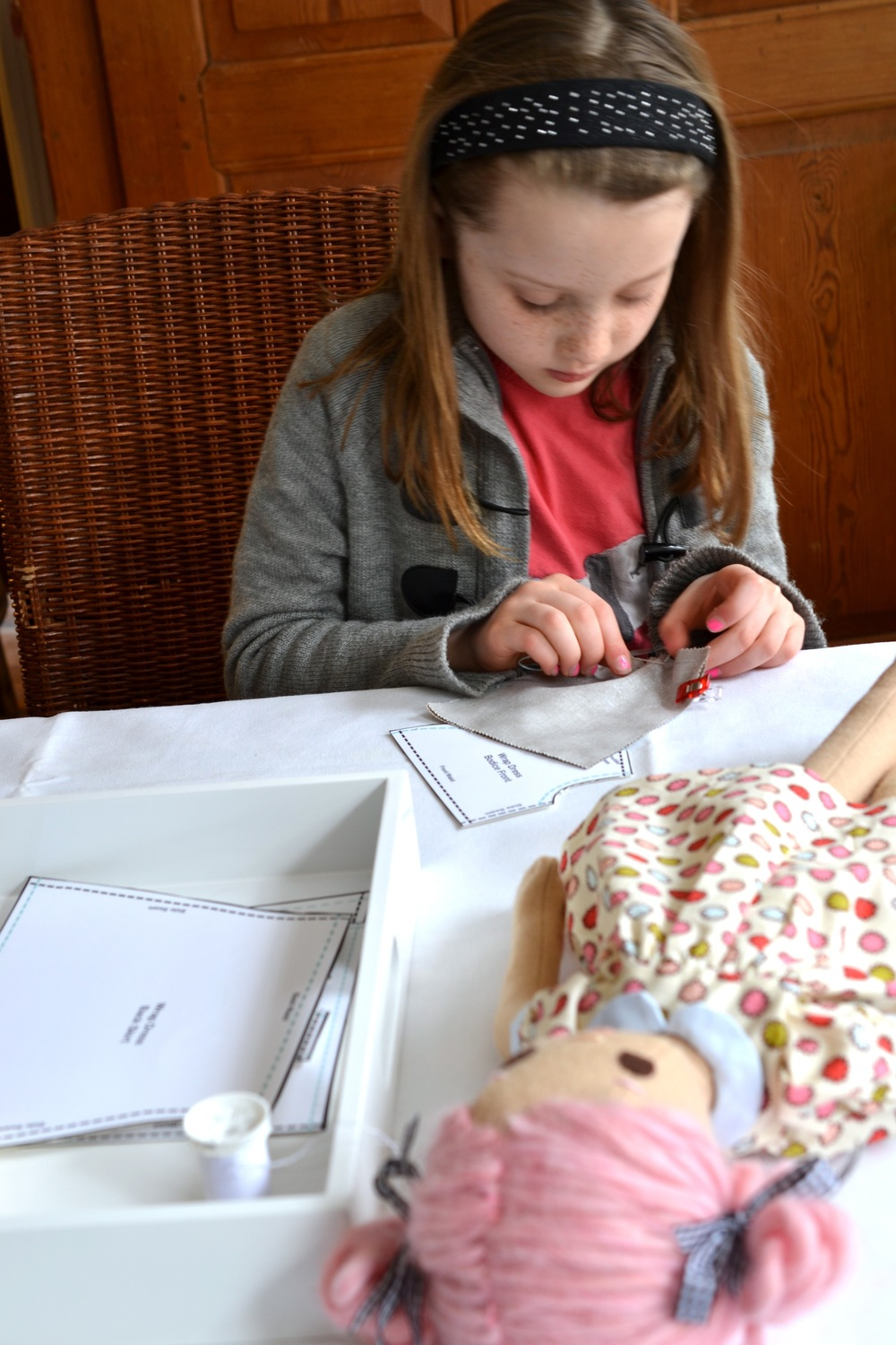 Teaching A Child to Sew — Phoebe&Egg