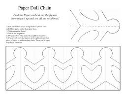 Paper Doll Chain Template (With images) | Paper doll chain, Paper ...