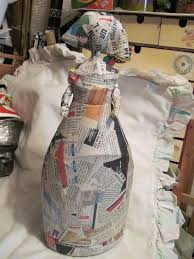 paper mache around a plastic bottle to make characters. | Paper ...