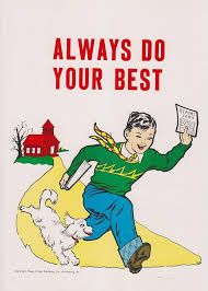 Vintage School Poster - Always Do Your Best - | School posters ...