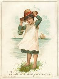 girl in blue and white dress holding onto her hat | Vintage artwork,  Vintage images, Vintage illustration